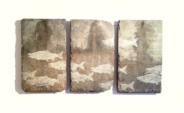 Salmon Triptych